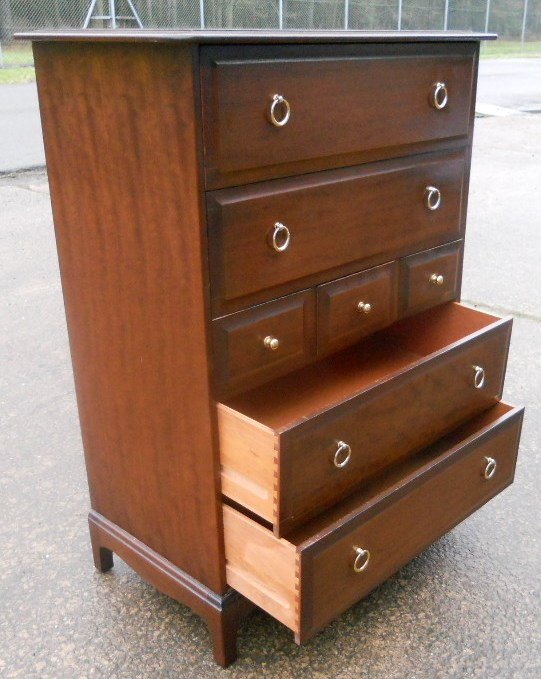 Stag Minstrel Tall Mahogany Chest Of Drawers Sold